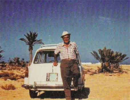 Un cliente dell'officina Papurello giunto fino in Africa con la sua A40