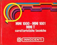 Caratteristiche Tecniche Innocenti Mini 1000 - 1001 - T